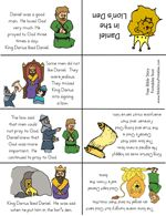 Daniel in The Lion's Den minibook foldable (one page, folded) free