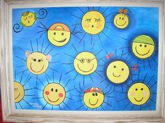aula de Pintura - 2002 - Esta foi uma pintura especial, que fugiu das paisagens para uma pintura mais alegre, para representar o que realmente gosto: muitas cores, muitas pessoas.... vivacidade!