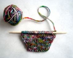Handpainted yarn how-to. with Kool-aid.