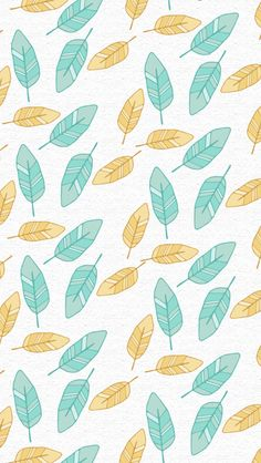 iphone 5 wallpaper - Feathers #aqua #yellow colors #pattern