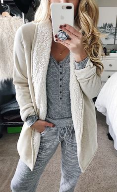 #winter #outfits women's white jacket. Click To Shop This Look.