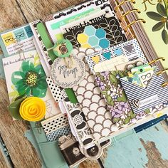 Christy Tomlinson @theplannersociety A closeup shot of my A5 planner set up for May.