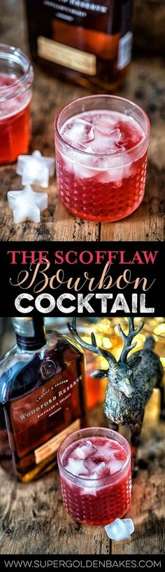 Get ready to meet your new favourite bourbon-based cocktail. The Scofflaw was named after those who scoffed the law by drinking during the Prohibition. Dessert For Dinner, Dessert Drinks, Bar Drinks, Non Alcoholic Drinks, Beverages, Easy Drink Recipes, Best Cocktail Recipes, Healthy Recipes, Bourbon Cocktails