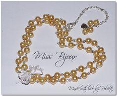COLIER PERLE STICLA SIDEFATA AURIE Jewelery, Charmed, Bracelets, Bead, Jewlery, Bangle Bracelets, Jewels, Jewerly, Jewelry