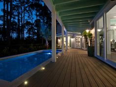 Recessed LED Deck Lights: HGTV Smart Home 2013 http://www.hgtv.com/smart-home/hgtv-smart-home-2013-pool-pictures/pictures/page-22.html?soc=pinterest
