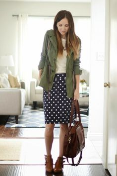 pencil skirt and ankle boots outfit - Google Search