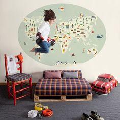Murales infantiles Coordonné: colección 'Cosas Mínimas' de Blanca Gomez.