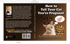 How to Tell Your Cat You're Pregnant. Funny false book jacket! (Your kitty can tell!)