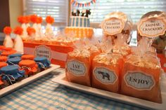 baby girls first bday fall themes | ... Party: Orange and Blue Elephant Birthday for Twins | Baby Lifestyles