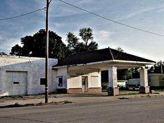 Vintage service station on old US56 in McPherson, Kansas