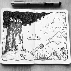 Dave Garbot — The Bear & the Old Tree #illustration #drawing...