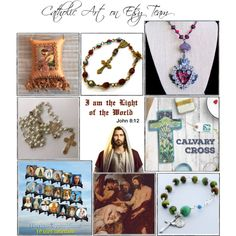 Religious Art on Etsy by TerryTiles2014 - Volume 366 by terrytiles2014 on Polyvore featuring arte, gift, etsy, art, catholic and religious