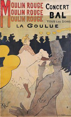 Henri de Toulouse-Lautrec (French, 1864–1901)  Moulin Rouge—La Goulue, 1891  Color lithograph  image: 75 x 45 3/4 in. (190.5 x 116.21 cm) sheet: 76 7/16 x 48 in. (194.15 x 121.92 cm)  Gift of Mrs. Harry Lynde Bradley