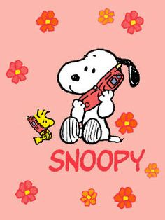 Snoopy and Woodstock on the phone