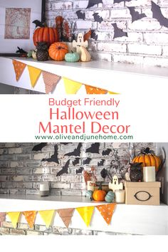 Who says you need to spend loads of money decorating for the holidays? I started this year with ZERO Halloween decorations. But with around $50 and some creativity, I was able to decorate my mantel to the 9's for Halloween. Check out this post for all the details! #halloweendecor #manteldecor #diydecor