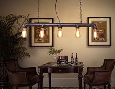 Aliexpress.com : Buy Vintage Metal Water Pipe Pendant Light Lamp Max 200W With 5 Lights Copper Finish from Reliable lamp water suppliers on Shenzhen M-Home Co. Ltd  | Alibaba Group Home Decor Decoration
