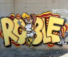 ROBLE @roble9 _______________________ #madstylers #graffiti #graff #style #colorful #stylewriting #summer #sprayart #graffitiart