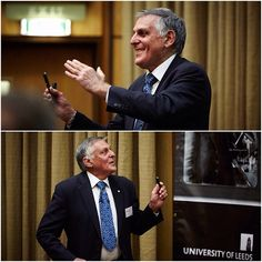 Nobel Laureate Professor Dan Shechtman delivered the Bragg Centenary Lecture on quasi-periodic materials to staff, students and alumni. Professor Shechtman, winner of the Nobel Prize in Chemistry in 2011, spoke in the University's Rupert Beckett Lecture Theatre on November 21 at the culmination of a year of events marking the centenary of the development of X-ray crystallography by William Henry Bragg and William Lawrence Bragg at Leeds in 1912-13.