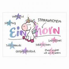 Postkarte »Sternzeichen Einhorn« Pink Vespa, Birthday Wishes, Birthday Cards, Sketch Notes, Cards For Friends, Digital Stamps, Hand Lettering, Snoopy, Rainbow