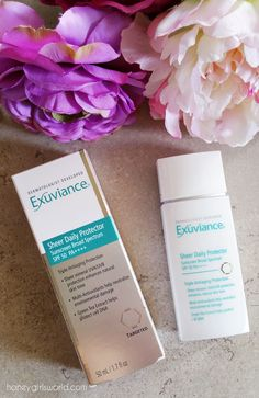 Sun Protection With Exuviance Sheer Daily Protector SPF 50 - Honeygirl's World - Lifestyle & Beauty Blog