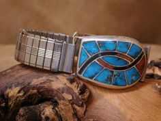 Best Watches For Men, Coral, Turquoise, Bird Design, Hummingbird, Watch Bands, Jet, Sterling Silver, Stone