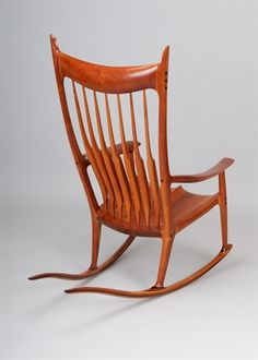 A Rare and Important Cherry Rocking Chair by Sam Maloof on artnet Auctions
