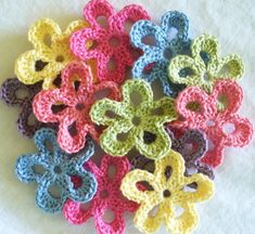 Colourful Crochet Embellishments, Handmade