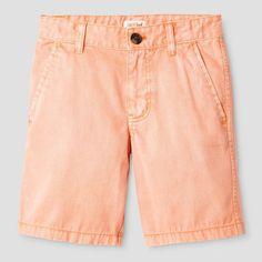 Boys' Flat Front Chino Shorts Cat & Jack Melon 18, Boy's