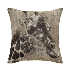 Introduce a natural theme to your living space with our giraffe square cushion, finished in black and white with a tapestry style giraffe motif. Soft Furnishings, Cushion Covers, Giraffe, Sweet Home, Cushions, Tapestry, Throw Pillows, Black And White, Lounge
