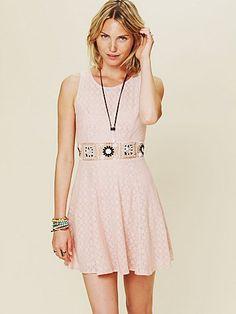 Free People Colorblock Daisy Fit and Flare Dress at Free People Clothing Boutique