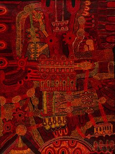 "Teresa Baker ""Kalaya"" 2011 59 x 78 inches, australian aboriginal art Aboriginal Painting, Aboriginal Artists, Encaustic Painting, Kunst Der Aborigines, Miss Mary, Australian Art, Indigenous Art, People Art, Abstract Art"