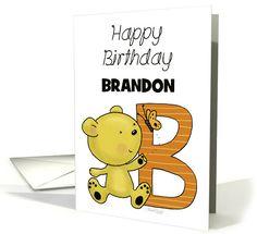 Customized Name Happy Birthday for Brandon-Bear