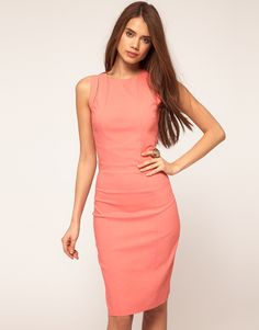 Hybrid Cut Out Sleeveless Pencil Dress