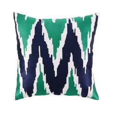 I pinned this Jennifer Paganelli Sarah Pillow in Blue & Green from the Bright Ideas event at Joss and Main!