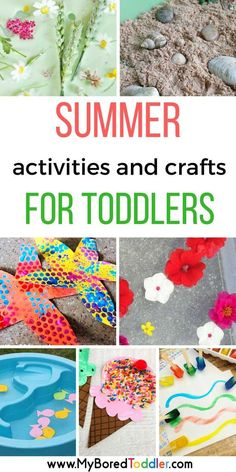 Summer activities for toddlers. If you are looking for toddler summer activities and crafts then you& love this collection of easy summer crafts and activiies for 2 and 3 year olds. Summer Activities For Toddlers, 3 Year Old Activities, Infant Activities, Preschool Crafts, Preschool Activities, Kids Crafts, Crafts With Toddlers, Learning Activities For Toddlers, 3 Year Old Preschool
