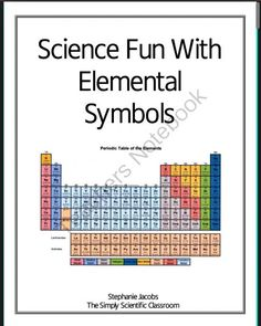 Lots of activities for learning about the periodic table of elements science fun with elemental symbols freebie grade levels to to to decorate your classroom using words created with the periodic table urtaz Image collections