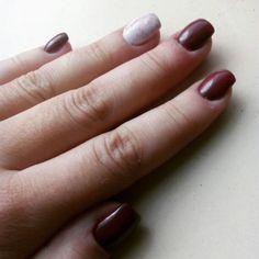 Winered nails autumn