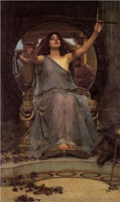"""""""Circe Offering the Cup to Ulysses"""", 1891, by John William Waterhouse (British, 1849-1917)"""