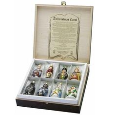 A Christmas Carol Boxed Set of 8 Heirloom Christmas Ornaments www.trendytree.com Makes a great family gift especially when present with a nice hardback copy of A Christmas Carol)))