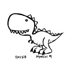 Simple Drawing Of A Dinosaur Dinosaur Line Drawing