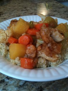Sweet and Sour Chicken from Scratch (  Quinoa)