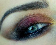 Beautiful eye makeup...
