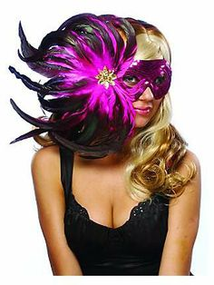 Feather Masks | Feather Masks for a Halloween Costume