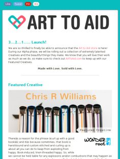 Art to Aid is using art to contribute to charity. What a great way to give back this holiday season (and what a lovely promotion too)!  #email #newsletter #charity #giving #art #aid #madmimi #emailmarketing #socialmedia #emailnewsletters
