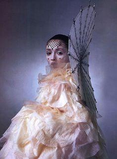 Photographer: Irving Penn. Vogue US April, 1999 ('Star Wars'). Model: Audrey Marnay.