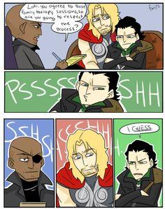 Thor & Loki, family therapy