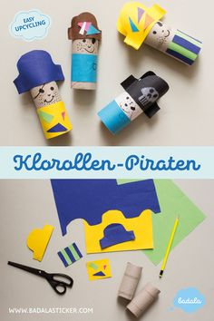 How do you make yourself cute toilet paper rolls pirates in no time? It's super easy with our DIY instructions and the perfect holiday fun – the creative upcycling with BADALA. The post Role-playing pirates in sight! appeared first on Woman Casual. Wine Bottle Crafts, Mason Jar Crafts, Mason Jar Diy, Cool Diy, Diy Projects To Try, Craft Projects, Diy For Kids, Crafts For Kids, Diy Hanging Shelves