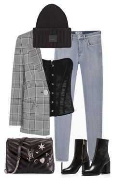 """""""Untitled #1748"""" by bettinakhrn ❤ liked on Polyvore featuring Acne Studios, Alexander Wang and Yves Saint Laurent"""