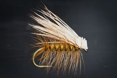 Elk Hair Caddis dry fly from FlyTyingArchive.com fly tying blog. #flytying #flyfishing