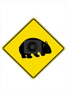 Wombat crossing sign